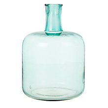 Buy Bloomingville Glass Vase, Aqua Online at johnlewis.com