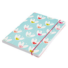 Buy Go Stationery Tulips A5 Notebook, Teal Online at johnlewis.com
