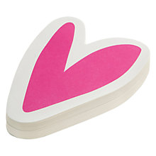 Buy Caroline Gardner Heart Die Cut Notepad Online at johnlewis.com