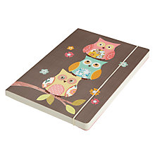 Buy Go Stationery Owl A5 Notebook, Brown Online at johnlewis.com