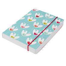 Buy Go Stationery Tulips A6 Notebook, Teal Online at johnlewis.com
