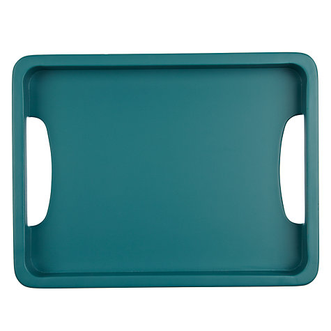 Buy John Lewis Scandi Painted Tray, Small, Green Online at johnlewis.com