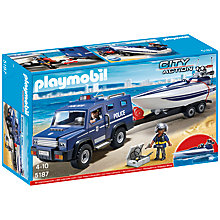 Buy Playmobil City Action Police Truck and Speedboat Online at johnlewis.com