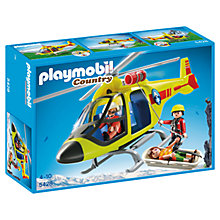 Buy Playmobil Mountain Rescue Helicopter Online at johnlewis.com