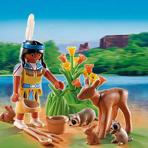 Buy Playmobil Native American Girl with Forest Animals Gift Egg Online at johnlewis.com
