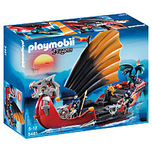 Buy Playmobil Dragons Dragon Battle Ship Online at johnlewis.com