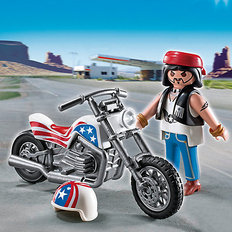 Buy Playmobil Biker with Motorcycle Gift Egg Online at johnlewis.com