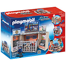 Buy Playmobil City Action My Secret Police Station Play Box Online at johnlewis.com