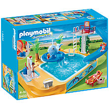 Buy Playmobil Summer Fun Pool and Fountain Online at johnlewis.com