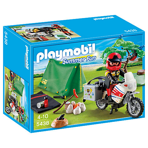Buy Playmobil Summer Fun Biker at Camp Site Online at johnlewis.com