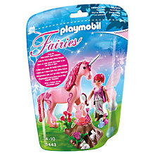 Buy Playmobil Care Fairy with Unicorn Gift Egg Online at johnlewis.com