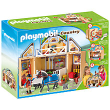 Buy Playmobil Country My Secret Pony Farm Play Box Online at johnlewis.com