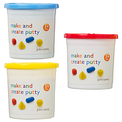 John Lewis Make & Create Putty, 3 Colours