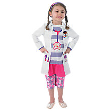 Buy Doc Mcstuffins Fancy Dress Outfit, White/Pink Online at johnlewis.com
