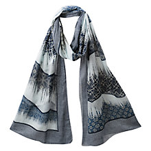 Buy East Printed Scarf, Indigo Online at johnlewis.com