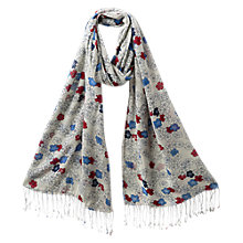 Buy East Blossom Print Scarf, Pearl Online at johnlewis.com