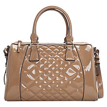 Buy Mango Quilted Patent Bowling Bag Online at johnlewis.com