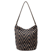 Buy East Woven Zig Zag Tote, Indigo Online at johnlewis.com