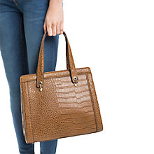 Buy Mango Croc Effect Tote Bag Online at johnlewis.com