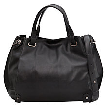 Buy Mango Pebbled Twin Handle Tote Handbag, Black Online at johnlewis.com