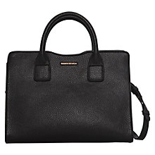 Buy Mango Pebbled Tote Handbag, Black Online at johnlewis.com