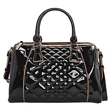 Buy Mango Quilted Patent Bowling Handbag Online at johnlewis.com