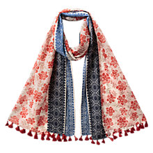 Buy East Floral Jacquard Scarf, Pillarbox Red Online at johnlewis.com