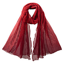 Buy East Ombre Bandhini Scarf, Pillarbox Red Online at johnlewis.com