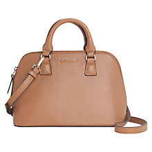Buy Mango Saffiano Effect Small Tote Handbag, Light Beige Online at johnlewis.com