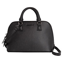 Buy Mango Saffiano Effect Tote Handbag, Black Online at johnlewis.com