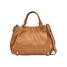 Buy Mango Pebbled Tote Bag, Medium Brown Online at johnlewis.com