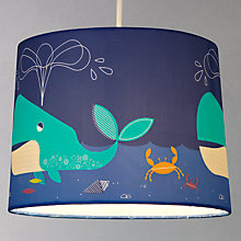 Buy little home at John Lewis Easy-to-fit Waves & Whales Ceiling Pendant Shade Online at johnlewis.com