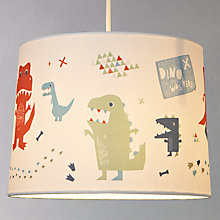 Buy little home at John Lewis Easy-to-fit Dinotastic Ceiling Pendant Shade Online at johnlewis.com