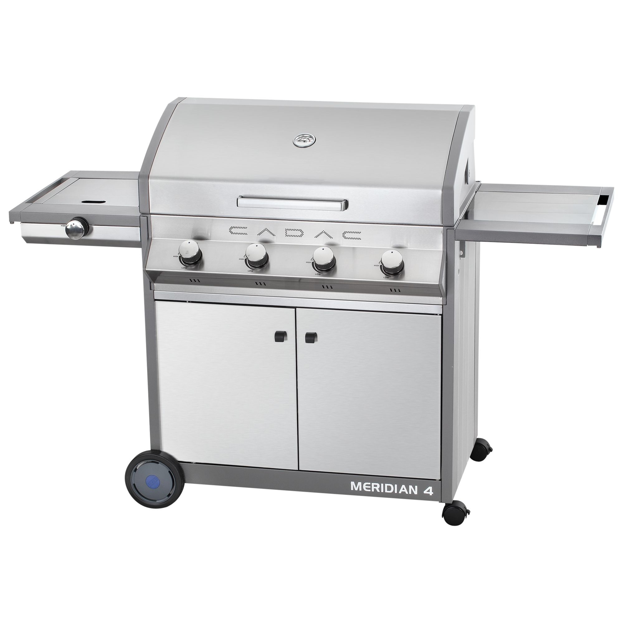 Cadac Meridan 4 Burner Barbecue, Stainless Steel