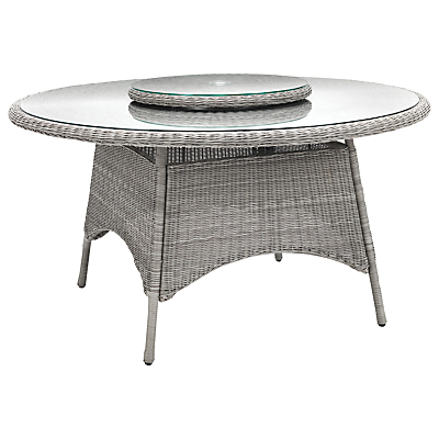KETTLER Round 6 Seater Synthetic Wicker Outdoor Dining Table