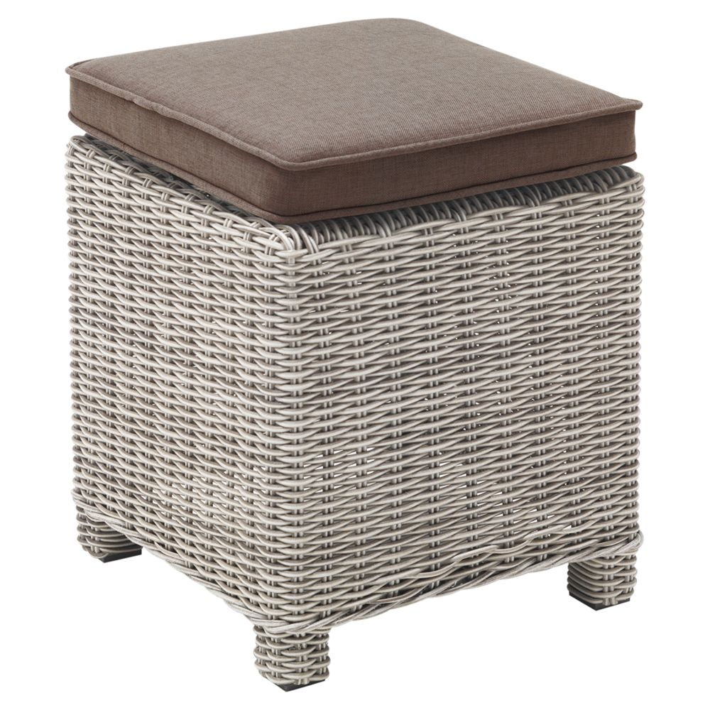 Kettler Weave Side Table, White Wash