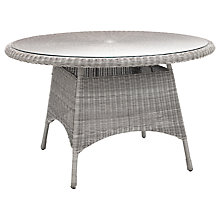 Buy KETTLER Round 4 Seater Synthetic Wicker Outdoor Dining Table Online at johnlewis.com