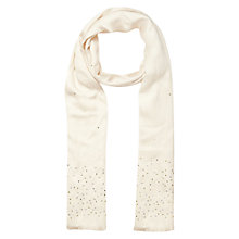 Buy Jacques Vert Embellished Jewel Scarf, Neutral Online at johnlewis.com