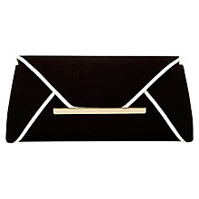 Buy Jacques Vert Piped Edge Clutch Bag, Black/Cream Online at johnlewis.com