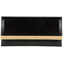 Buy Ted Baker Moura Leather Purse, Black Croc Online at johnlewis.com