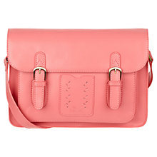 Buy Nica Amy Polyurethane Satchel Handbag, Coral Online at johnlewis.com
