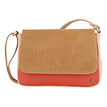 Buy Tula Originals Colour Block Small Leather Across Body Bag, Tan Online at johnlewis.com