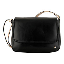 Buy Tula Originals Premium Small Leather Across Body Bag, Black Online at johnlewis.com