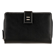Buy The Tula Violet Large Leather Zip Purse, Black Online at johnlewis.com