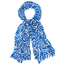 Buy Phase Eight Hetty Silhouette Floral Scarf, Blue Online at johnlewis.com