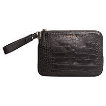 Buy Mango Croc Effect Clutch, Black Online at johnlewis.com