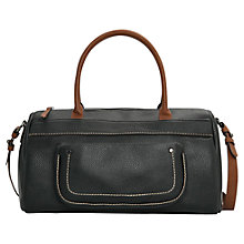 Buy Mango Pebbled Detail Weekend Handbag, Black Online at johnlewis.com