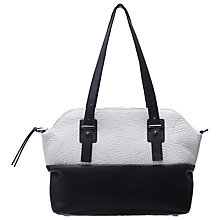Buy French Connection Megan Tote Handbag, White/Black Online at johnlewis.com
