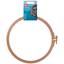 Buy Prym Embroidery Hoop, 8mm x 18.5cm Online at johnlewis.com