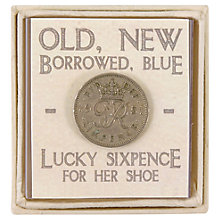 Buy East of India Old, New, Borrowed, Blue Vintage Sixpence Online at johnlewis.com